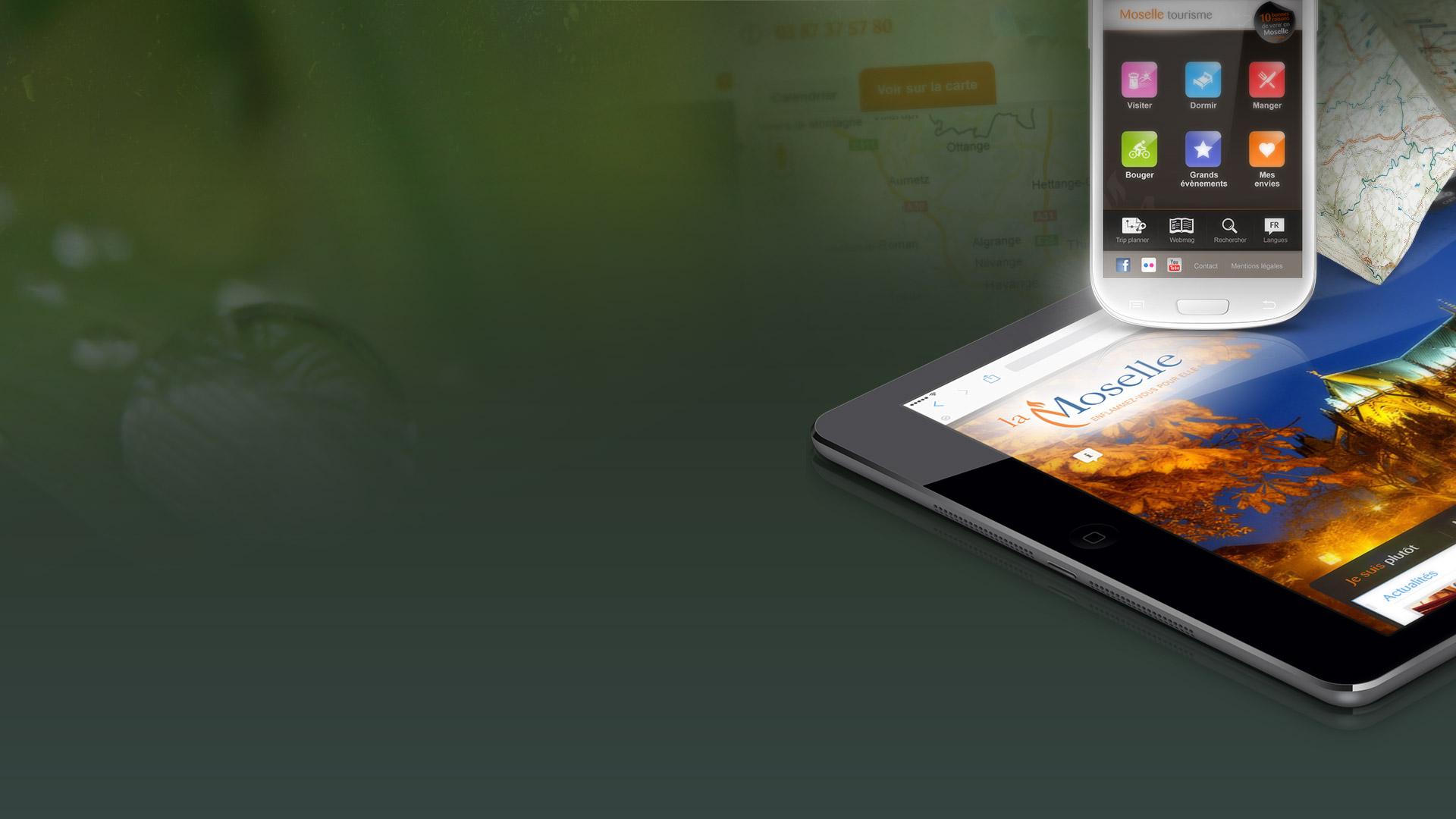 Création du webdesign pour le CDT Moselle