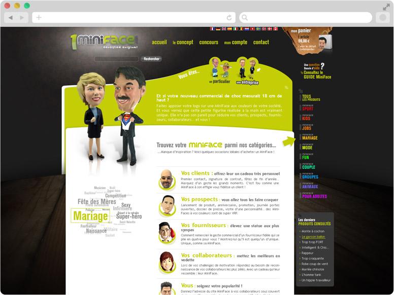 Page Entreprise site 1MiniFace