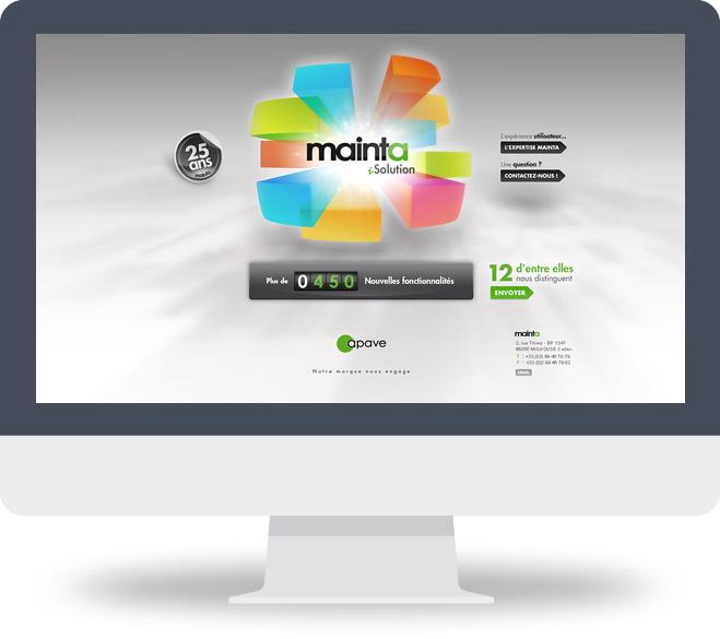 Webdesign mini site 25 ans Mainta