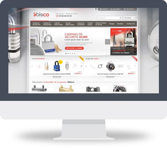 Page d'accueil site Abisco Sécurité