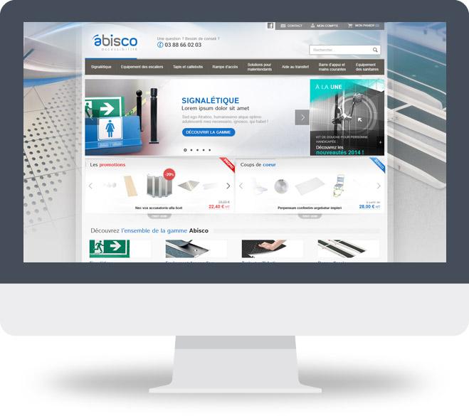 Page d'accueil site Abisco Accessibilité