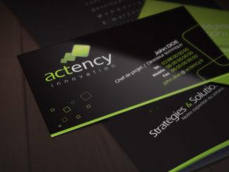 Création logo, web et print Actency