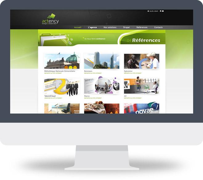 Page Références site Actency