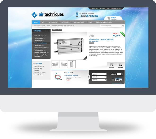 Page Détail produit boutique en ligne Air Techniques