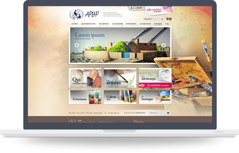 Page d'accueil APBP