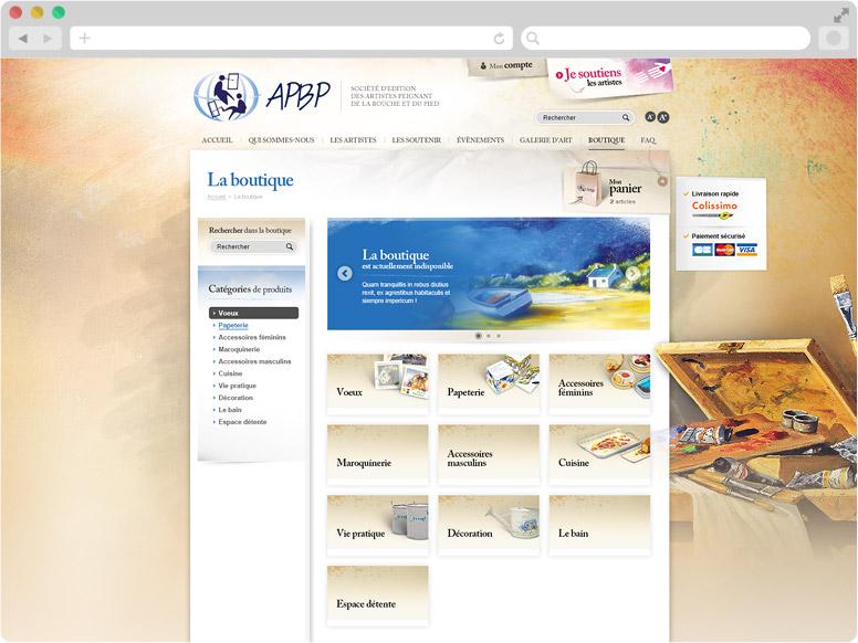Accueil e-boutique APBP