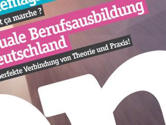 Conception print brochure Apprentissage Transfrontalier