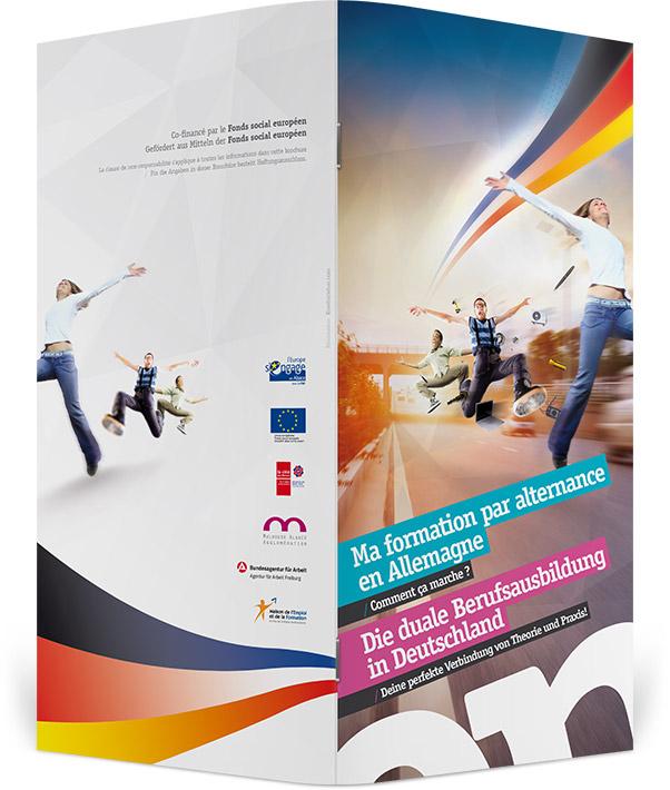 Couverture et dos brochure Apprentissage Transfrontalier