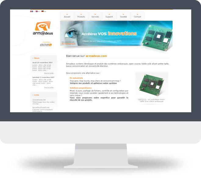 Page d'accueil site Armadeus