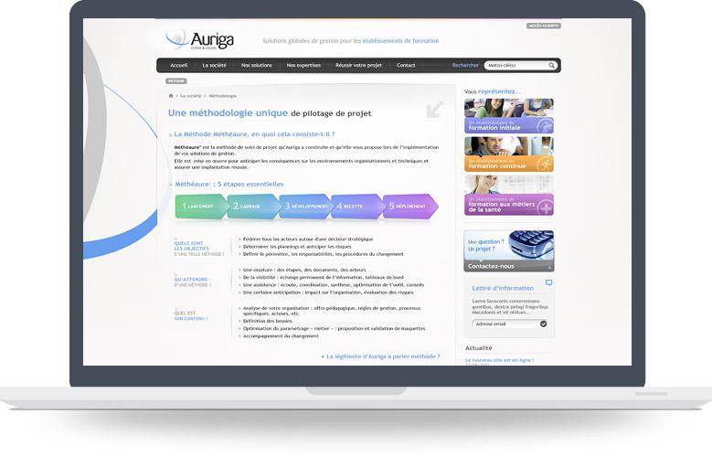 Page Méthodologie site Auriga
