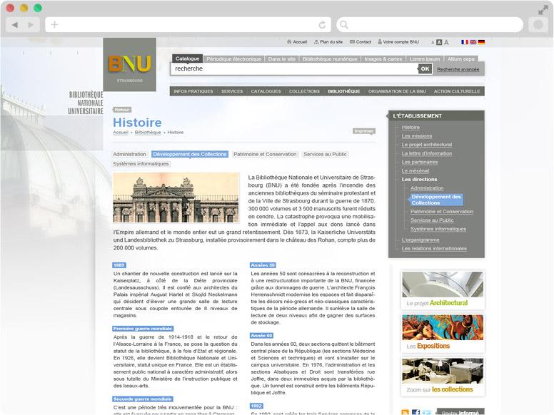 Page Histoire BNU Strasbourg