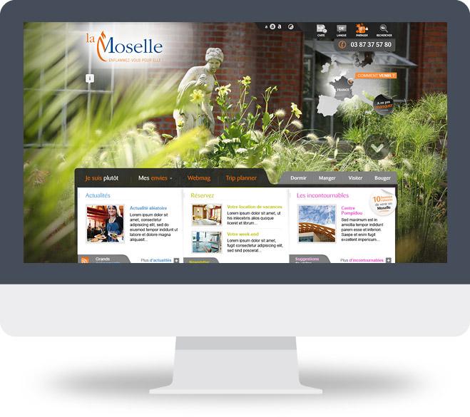 Page d'accueil du site du CDT Moselle