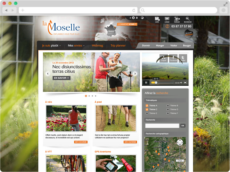Page thématique CDT Moselle
