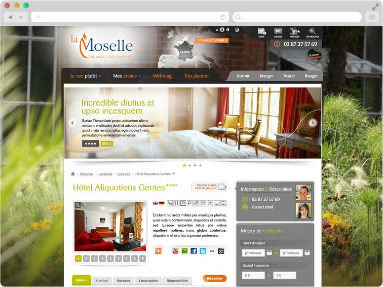 Webdesign CDT Moselle - Page détail d'un hébergement