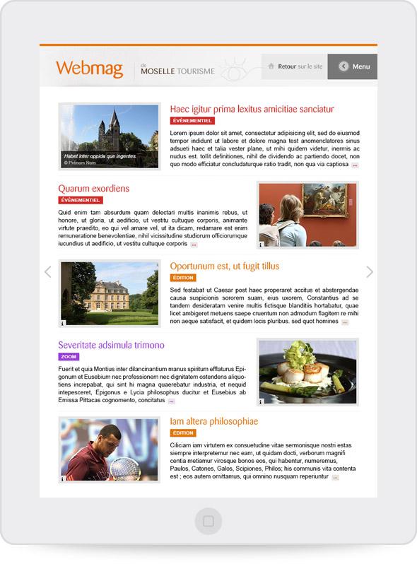 Conception graphique du webmag CDT Moselle (portrait)