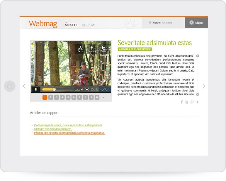 Conception graphique du webmag CDT Moselle (paysage)