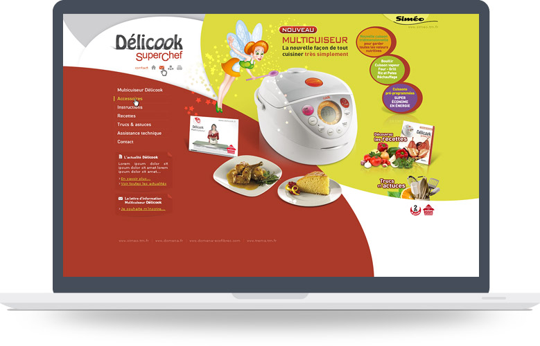 Page d'accueil site Delicook