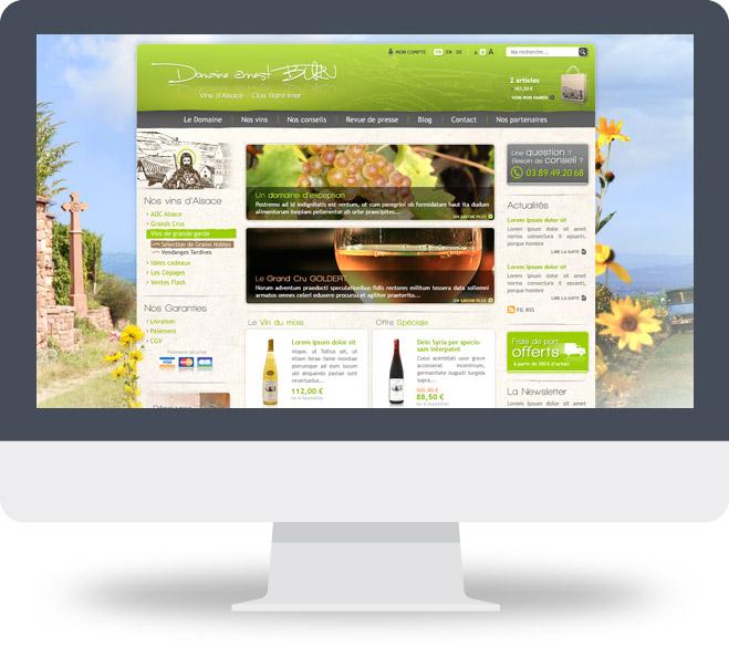 Page d'accueil site Domaine Ernest Burn