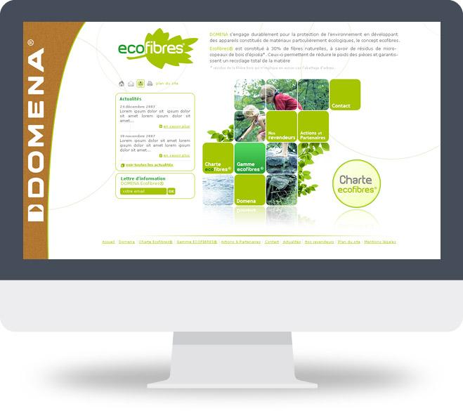 Page d'accueil site Ecofibres