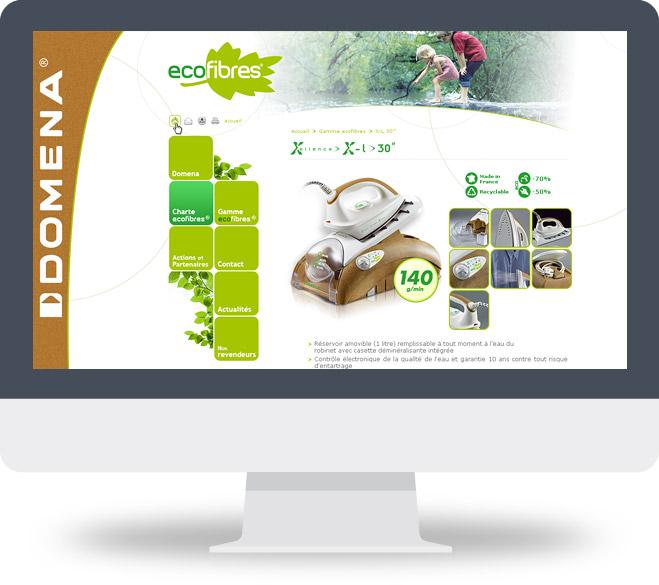 Page détail produit site Ecofibres