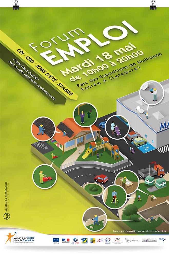 Création graphique Forum Emploi Parc Expo