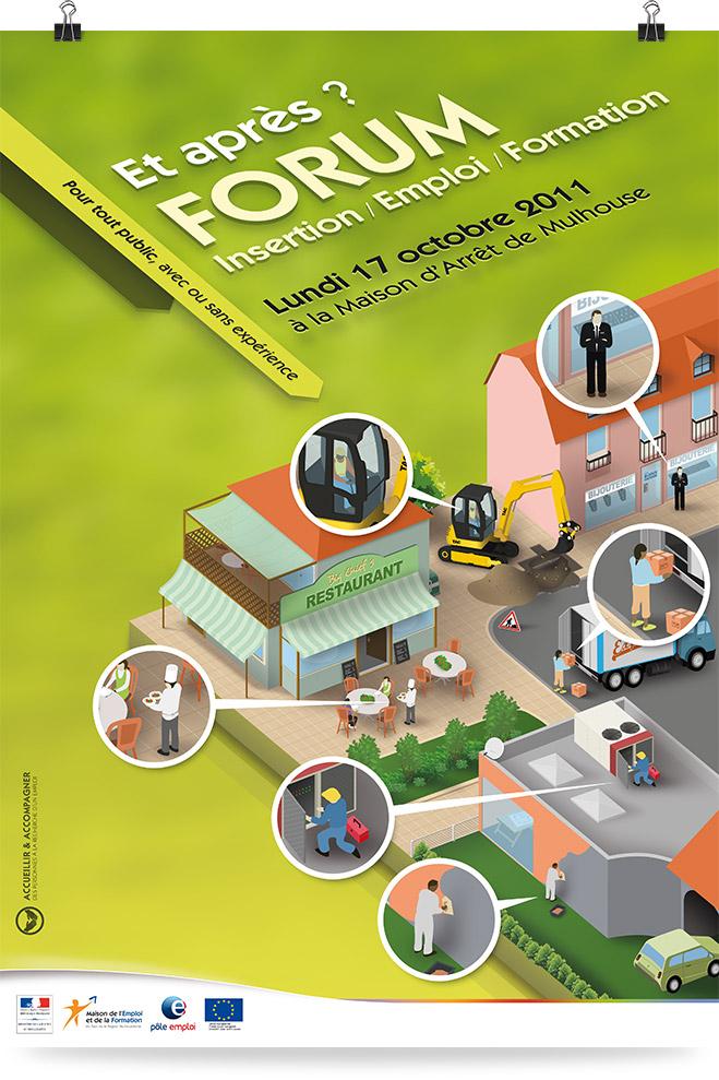 Création graphique Forum Emploi Maison d'Arrêt