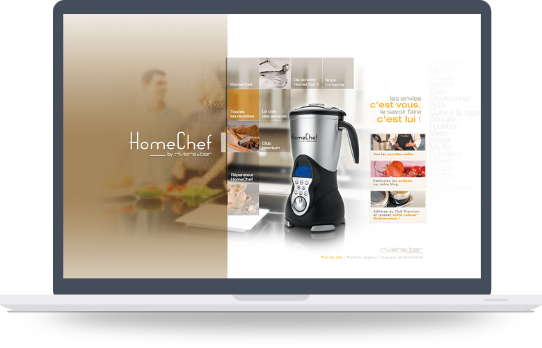 Page d'accueil site Homechef