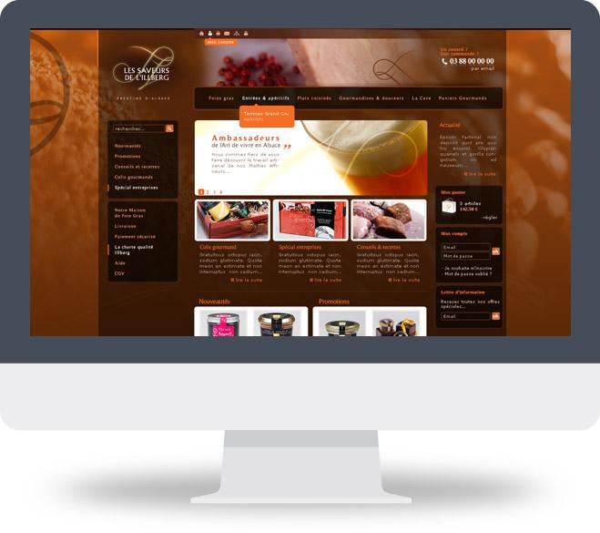 Page d'accueil site Saveurs et Emotions du Monde
