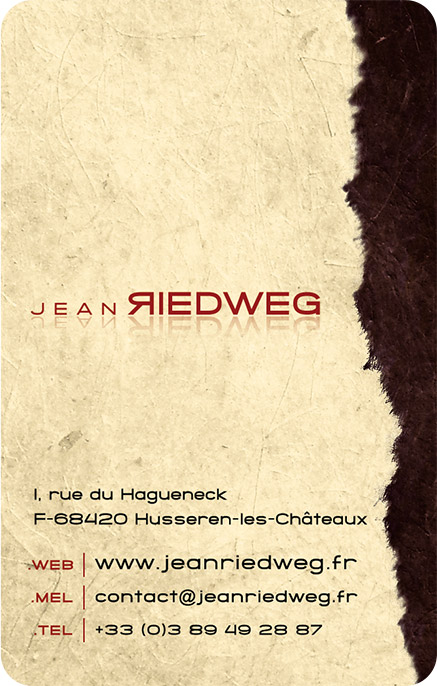 Verso carte de visite Jean Riedweg