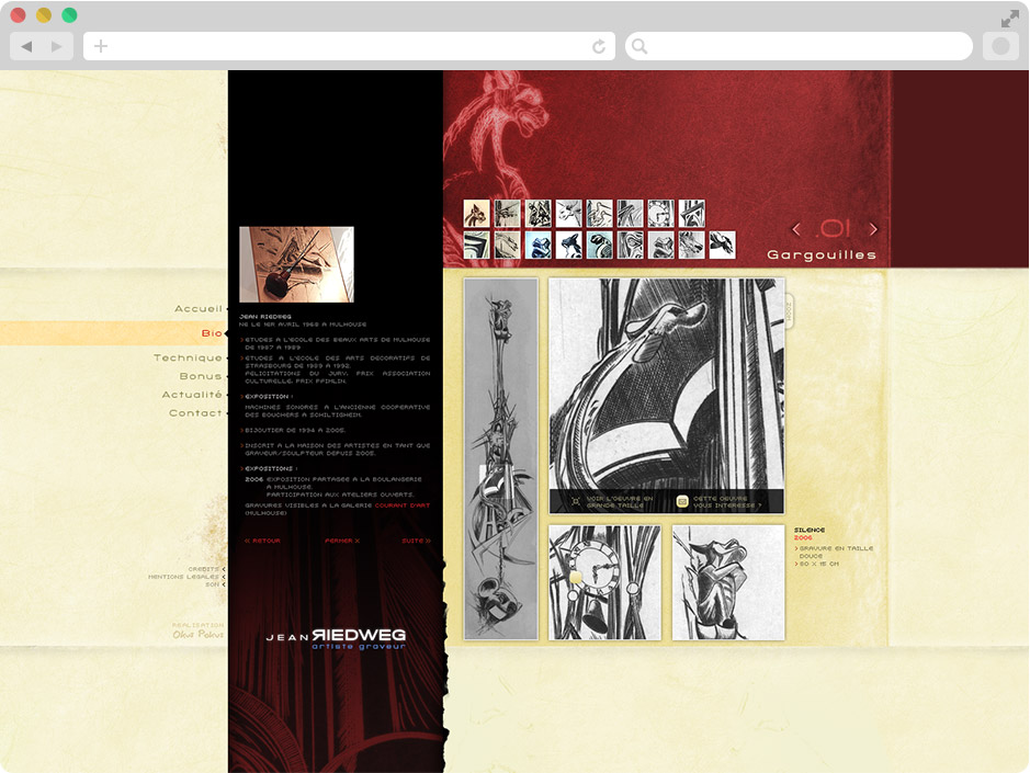 Page Détail oeuvre site Jean Riedweg