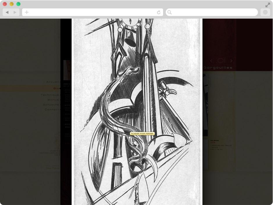 Page Zoom oeuvre site Jean Riedweg