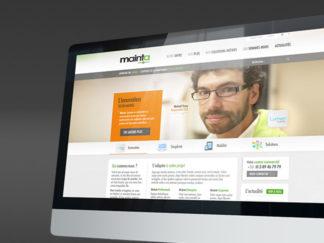 Webdesign et iconographie Mainta
