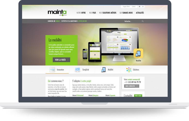 Page d'accueil du site Mainta