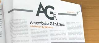 Création print du programme de l'AG 2011 de la MEF de Mulhouse