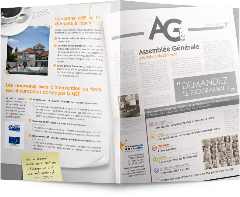 Recto plaquette AG 2011 MEF Mulhouse
