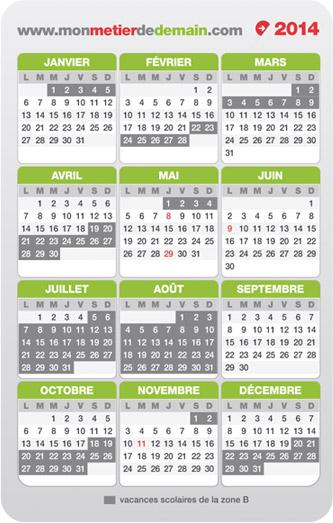 Verso calendrier MonMétierdeDemain