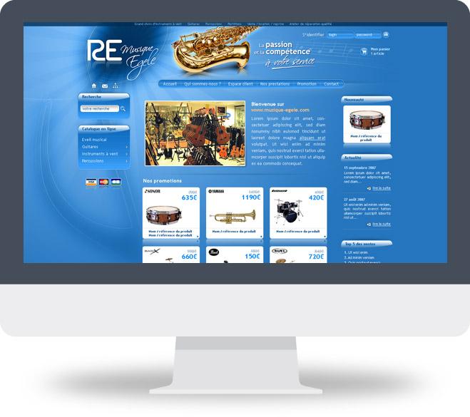 Page d'accueil site Musique Egele