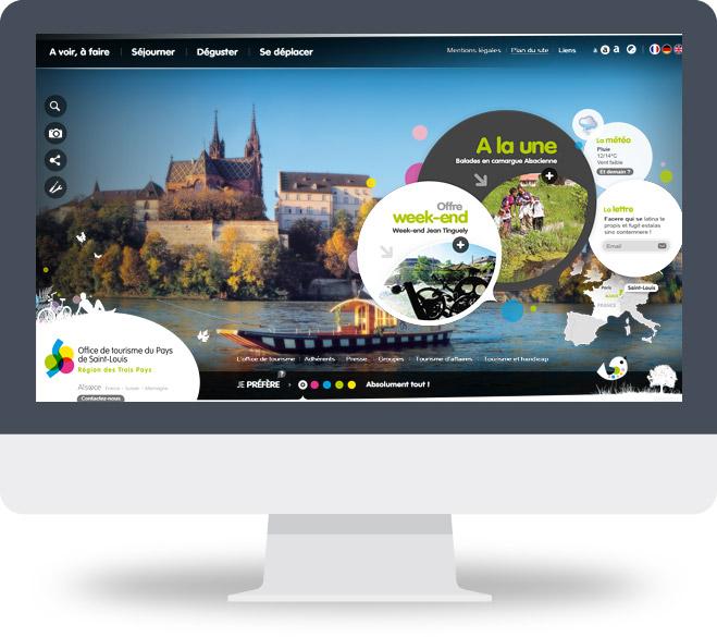 Page d'accueil site OT Saint-Louis