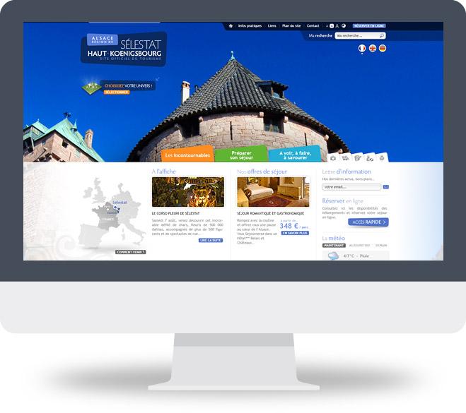 Page d'accueil du site de l'OT de Sélestat