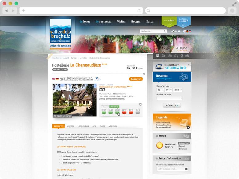 Page Détail d'hébergement site OT Haute-Bruche