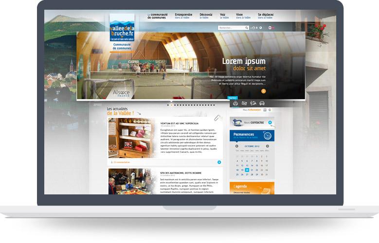 Page d'accueil site CC Haute-Bruche
