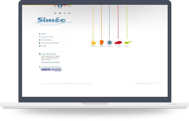 Page d'accueil site Simeo