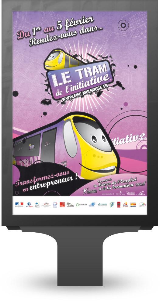 Affiche Tram de l'Initiative format MUPI