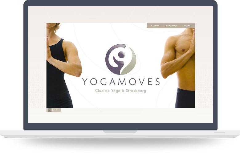 Page d'accueil site YogaMoves