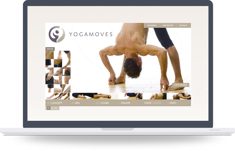 Page Gallerie site YogaMoves
