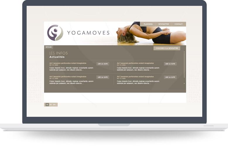 Page Actualités site YogaMoves
