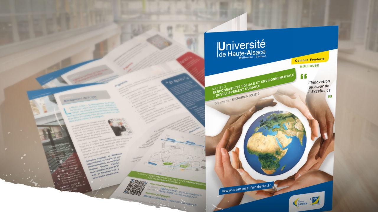 Nouvelle plaquettes de communication pour le Campus Fonderie - Université de Haute Alsace