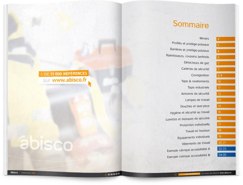 Sommaire du catalogue Abisco 2015