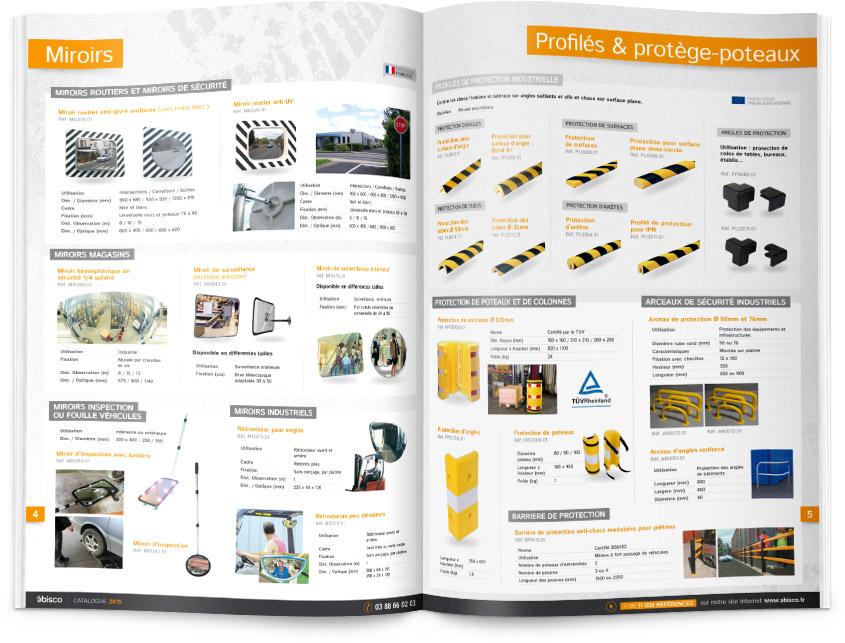 Mise en page produits du catalogue Abisco 2015