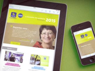 Webdesign newsletter MACIF Île-de-France